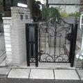 オリジナルアイアンを使った門扉フェンス 逗子H様邸