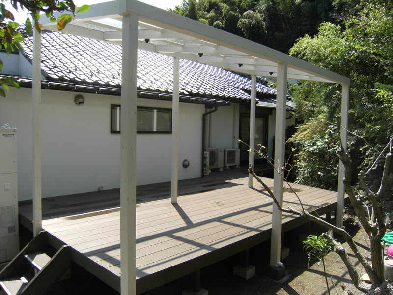 オリジナルデッキ パーゴラ 横須賀 S様邸